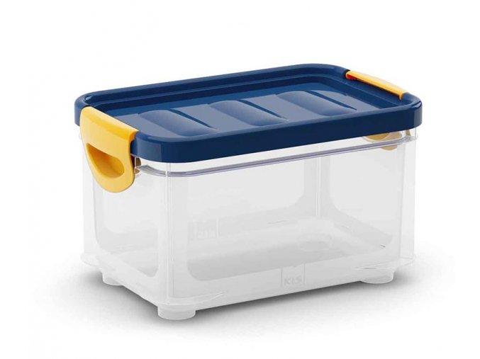 Plastový úložný box s víkem na klip, 5,5 l