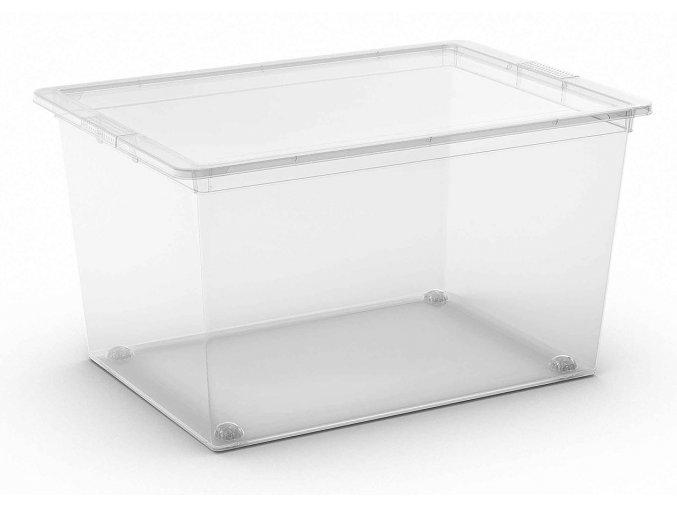 Box průhledný s víkem, XL