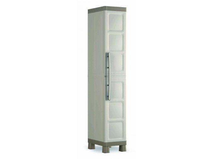 Úzká plastová skříň Excali 182x33x45 cm