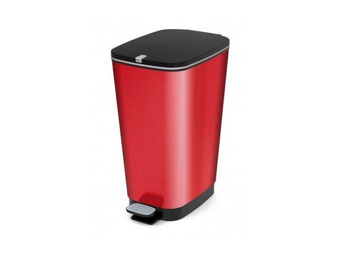 Odpadkový koš plastový, design červená, 60 l