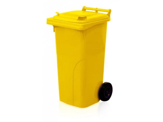 popelnice 120 l plastova zluta