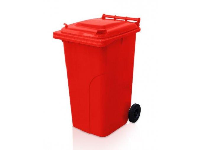 popelnice 240 l plastova cervena