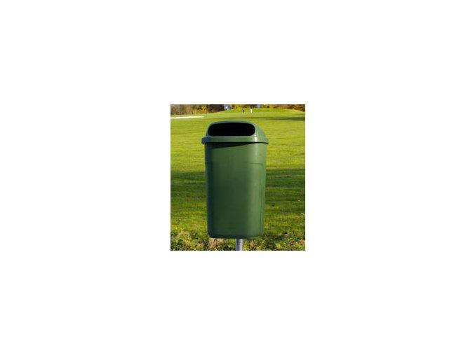 Odpadkový koš venkovní klasický 50 litrů, se zhasínací ploškou pro kuřáky