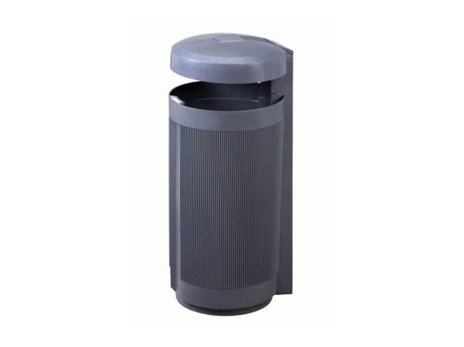 Odpadkový koš venkovní 50 litrů, šedý