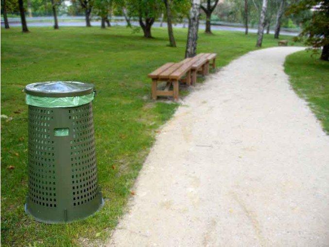 Odpadkový koš plastový 120l - zelený robustní