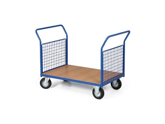 Plošinový vozík, dvě drátěná madla, 200 kg, kola 125 mm