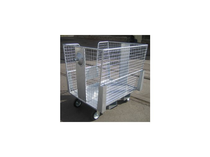 Pojízdný síťový box 1160x1000x1190 mm, pozink