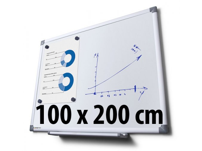 Tabule magnetická, 100 x 200 cm
