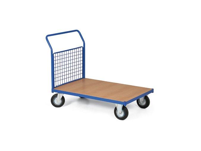 Plošinový vozík, jedno drátěné madlo, 500 kg