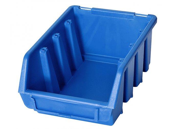 box plastovy maly na sroubky drobny material ergobox 2 modry levne