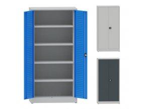 skrin perforovane dvere 80 pol barvy