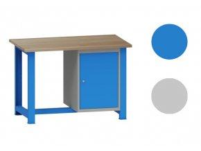 Dílenský stůl montovaný, s kontejnerem, 82,7 x 120 x 70 cm