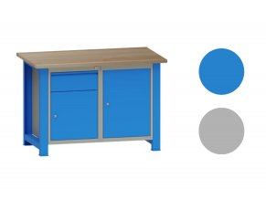 Dílenský stůl montovaný, s kontejnery, 82,7 x 120 x 70 cm