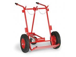 Vozík na svařovací láhve, tříkolý, 300 kg
