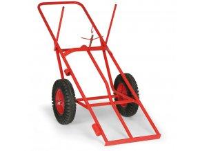 Vozík na svařovací láhve, dvoukolý, 300 kg