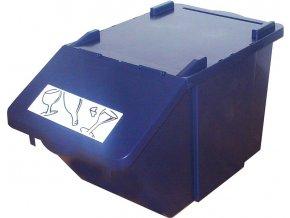 Stohovatelná nádoba na tříděný odpad - modrá