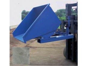 Výklopný kontejner (přepravník) 1200 litrů, var. základní, zinek