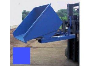 vyklopny kontejner na voziku modry