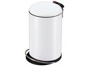 Odpadkový koš nášlapný 16 litrů, bílý lak