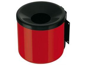 Závěsný popelník vysoký, červený