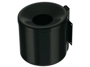 Závěsný popelník vysoký, černý