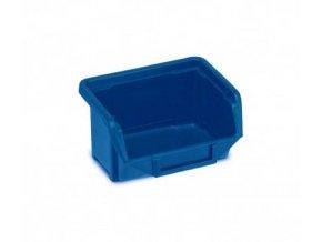 Plastová krabička 53 × 109 × 100, modrá, bal.j. 40 ks