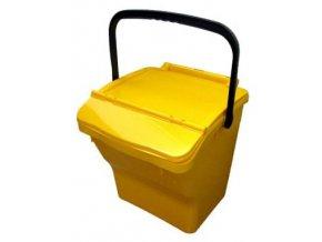 Odpadkový koš plastový na tříděný odpad - žlutá