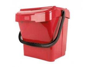 kos kyblik kybl na trideny odpadu cerveny