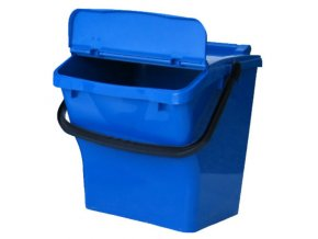 Odpadkový koš plastový na tříděný odpad - modrá