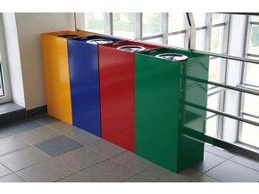 Nádoba na tříděný odpad 100 litrů, zelená