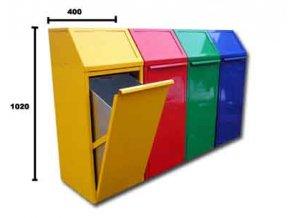 Koš na tříděný odpad do podniků, 70 l, žlutý
