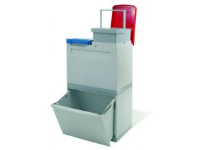 Odpadkový koš na tříděný odpad - 1 x 30 l + 2 x 15 litrů