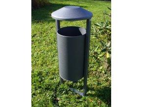 Odpadkový koš venkovní - šedý