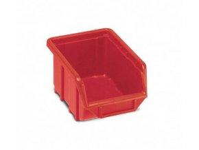 Plastová krabička 76 × 111 × 168, červená, bal.j. 60 ks