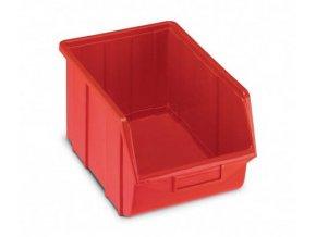 Plastová krabička 129 × 160 × 250, červená, bal.j. 30 ks