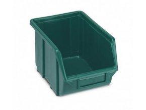 plastovy box ecobox 12 9 x 16 x 25 cm zelena