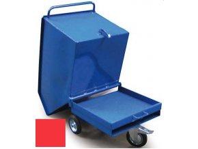 Výklopný vozík na špony, třísky 250 litrů, var, základní, červený