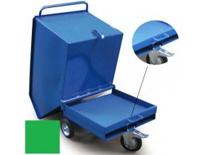 vyklopny vozik kapsy zeleny