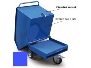 vyklopny vozik kohout kapsy modry