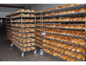 Pekárenský vozík na chleba 1730 x 610 x 1520 mm, 8 polic