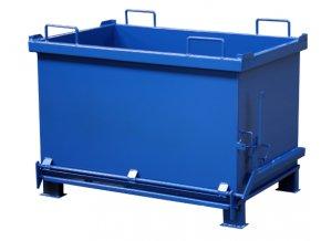 kontejner s vyklopnym dnem 600 litru modrý