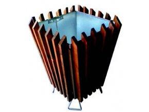Odpadkový koš venkovní dřevěný hranatý