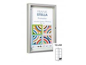 Venkovní vitrína 1350 x 750 mm, hloubka 75 mm (bezpečnostní sklo)