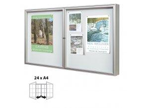 Venkovní dvoukřídlová vitrína 1050 x 1800 mm, hloubka 75 mm (plexisklo)
