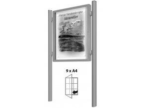Oboustranná venkovní vitrína 1000 x 750 mm, hloubka 75 mm (plexisklo)