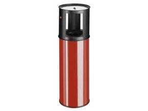 Samozhášecí odpadkový koš s popelníkem, 25l, červený
