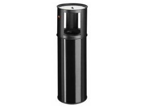 Samozhášecí odpadkový koš s popelníkem, 25l, černý