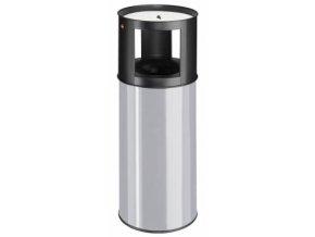 Samozhášecí odpadkový koš s popelníkem, 40l, šedá