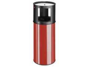 Samozhášecí odpadkový koš s popelníkem, 40l, červená