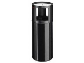 Samozhášecí odpadkový koš s popelníkem, 40l, černý